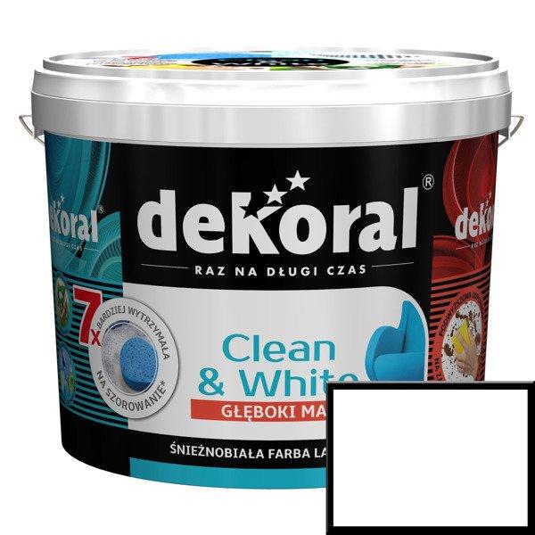 Dekoral Cleanwhite Biała Mat 10l Farba Lateksowa