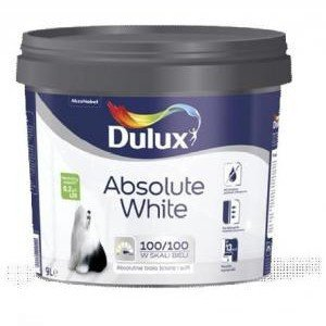 farba dulux absolute white 9l bia y abud materia y. Black Bedroom Furniture Sets. Home Design Ideas