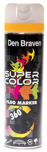 Den Braven Super Color Fluo Marker Pomarańcz 500ml
